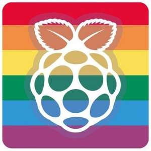 Raspberry Pi pride sticker £1 p&p @ The pihut