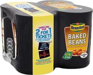 Branston Beans 2 for 1 Ticket offer for THORPE PARK Resort and SEA LIFE Centres