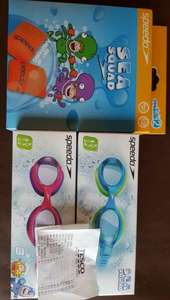 Speedo sea squad skoogles £1.50 and Speedo sea squad roll up arm bands 1.87! Tesco.