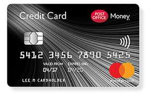 Post Office 30 months or two and a half years 0% purchase credit card good for that big item