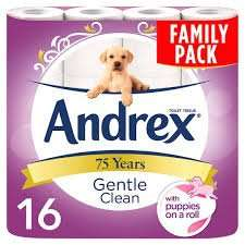 Andrex Gentle Clean 16 Toilet Rolls Family Pack for £5.50 @ mccolls
