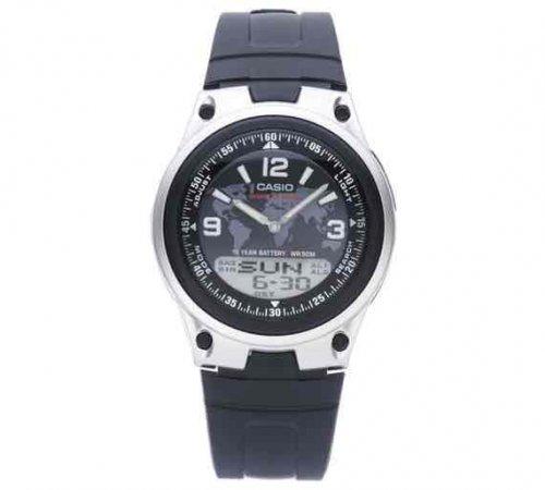 Casio Men's World Time Digital/Analogue Black Strap Watch £16.99 Argos