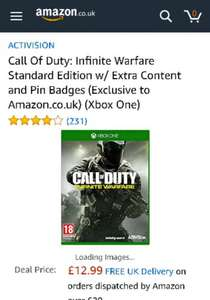 Call of Duty Infinite Warfare, with some small DLC.  £12.99 (Prime) on PS4 and Xbox One. @ Amazon