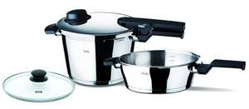 Fissler Vitavit Comfort Set of Pressure Cooker 8 L & Pressure 4Litre Pan with £195.33 Amazon