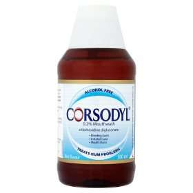 Corsodyl 0.2% Alcohol Free Mint Flavour Mouthwash 300ml £3.79 @ Asda