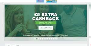 £5 Extra cashback offer for £20 spend at topcashback (invite only)