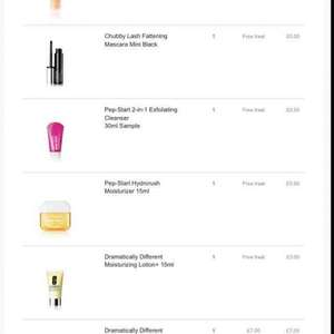 6 Clinique items for £7 spend free delivery