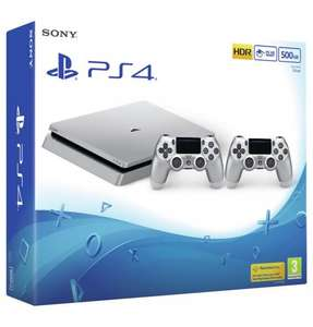 Limited PS4 500GB Silver Console with Extra Silver DualShock Controller - £249.99 Plus Get £50 Credit Back @ Very