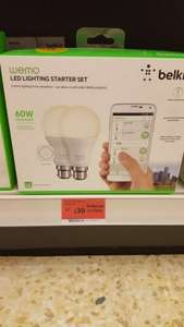 wemo led lighting starter kit was £60 now £30 @ sainsburys Lincoln