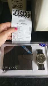 fathers day watch and wallet gift set £1 at B&M