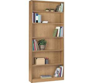 HOME Maine Tall Wide Bookcase now 20% off - now just £33.49 @ Argos (Few colours aval)