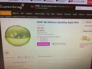 DKNY Be Delicious Sparkling Apple 50ml is now Half Price - £25 at Superdrug