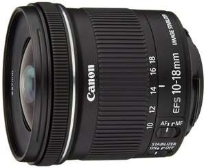 Canon EF-S 10-18 mm f/4.5-5.6 IS STM Lens (£164.77 with £25 cashback from Canon) - £189.77 @ Amazon
