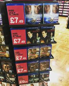 HMV blu ray sale passengers, nocturnal animals, jack reacher - £7.49 each
