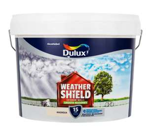 Dulux - Weathershield Stabilising Primer 2.5L £11.98 /  Weathershield Masonry Paint 10L £28.98  / Weathershield Fungicidal Wash Mould Resistant Wash Paint 2.5L £11.98 @ Brooklyn trading