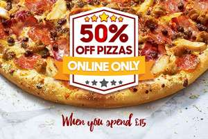 IT'S BACK!! 50% off Pizza when you spend £15 @ Pizza Hut