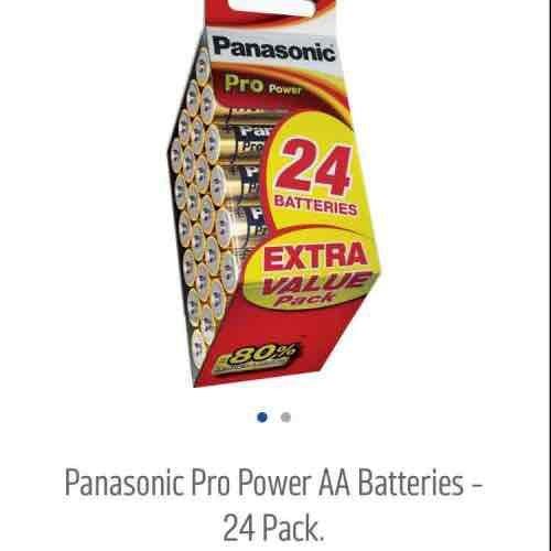24 AA Panasonic pro batteries - £4.99 @ Argos