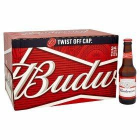 Budweiser 24 bottles £12 at asda