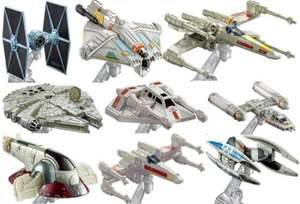 Hot Wheels Star Wars ships and vehicles (single) 99p each @ Home Bargains