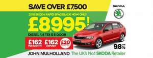 skoda rapid spaceback 1.4tdi pre reg  £8995 @ Johnmulhollandmotors.com