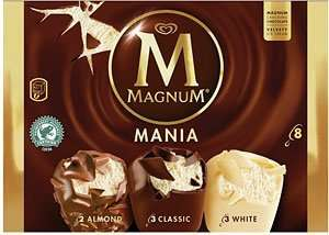 Heron Foods - Magnum Mania Ice Creams 8 pack (3 Classic, 2 Almond & 3 White Chocolate) - £2.49