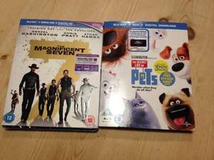 Tesco Blu-ray 2 for £12 includes magnificent 7, secret life of pets, jack reacher 2 instore @ Tesco