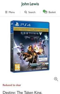 Destiny: The Taken King, Legendary Edition, PS4 at John Lewis for £17.20 c&c