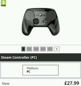 Steam Controller   £27.99   Free UK Delivery @ GAME