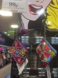 Small embroidered key ring purses 99p instore @ Home Bargains