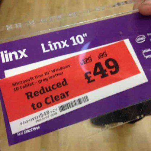 Linx 10 Microsoft £49  instore at Sainsbury's Welwyn Garden City