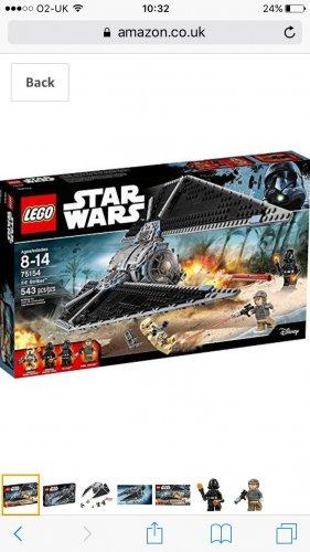 Lego Star Wars Tie Striker 75154 - £34.99 Amazon prime exclusive
