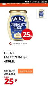 Heinz seriously good mayonnaise 25p from Poundstretcher