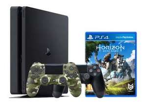 Playstation 4 Slim 500GB Black with Horizon Zero Dawn + Green Camo Dual shock 4 £249 @ Grainger games