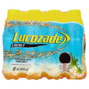 Lucozade Caribbean Crush 6+2 free x 380ml - 8 bottles for £3 Home Bargains