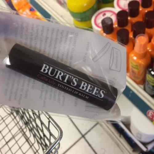 Burts bees lip balm poundland - pink tinted £1