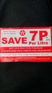 Texaco Irlam - 7p off a litre with instore purchase