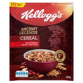 Kellogg's Ancient Legends cereal only 49p down from £2.99 at Heron Foods