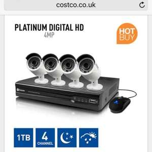 Swann NVR4-7400 4 Channel Network Video Recorder & 4 x NHD-818 Cameras £499.99 @ Costco online