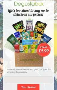 Degusta box get the latest products every month delivered to your door £12.99 per month
