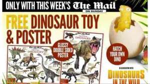 Mail on Sunday (£1.70) with Dinosaur poster @ Tesco express/WHsmiths