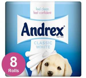 8 pack Andrex toilet paper £1  / £4.95 delivered - normally £3.97 @ Poundshop