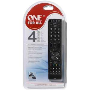 Universal remote (programmable) One For All Remote Essence 4 £5.70 @ ASDA instore