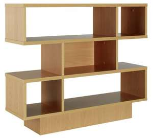 Cubes Shelving Unit - Beech Effect was £44.99 now £26.99 OR get two for £40.48 (Cube unit & TV unit for £36.78 also) + Offer stacks with 20% off £200 spend @ Argos