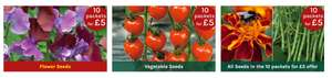 10 packets of seed £5 plus £1.95 delivery £6.95 @ Thompson & morgan