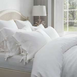 Dorma 100% Linen White Bed Linen Collection (all sizes) @ Dunelm from £30