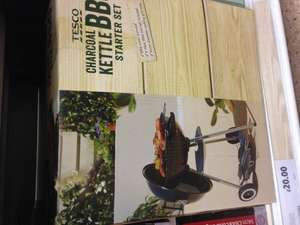 Tesco 41cm kettle BBQ starter set includes tools & cover £20 instore
