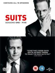 Suits Seasons 1-5 DVD Boxset £17.99 using code BINGE10 @ zavvi (free delivery)