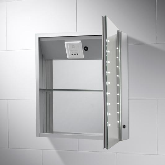 AMBER LED ILLUMINATED BATHROOM CABINET MIRROR £165.67 pebblegrey