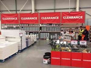 various paint and laminate reduced to clear at B&Q Meir park