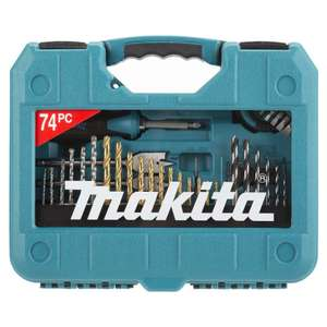 Makita Power Drill 74pc Accessory Set - Includes Screwdriver, drill bits, tape measure - £12.99 + £1.99 Standard Delivery £14.98 @  Brooklyn Trading